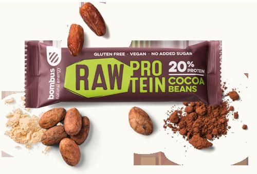 Znalezione obrazy dla zapytania Baton RAW Protein cacao beans | Natural Energy